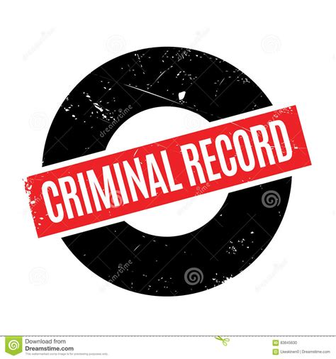 Can Arrest Records Be Removed Criminal Record Rubber St Stock Vector Illustration 83645630