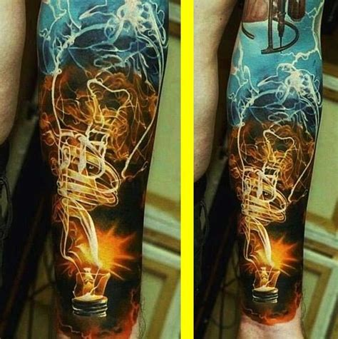 lighting tattoo tattoos ink inked bodyart lightning