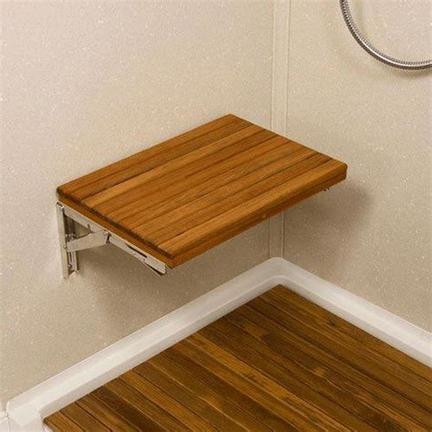 flip down shower bench teakworks4u wall mount fold down teak shower bench wall