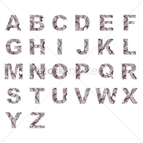 decorative alphabets set of decorative alphabets vector image 1618905