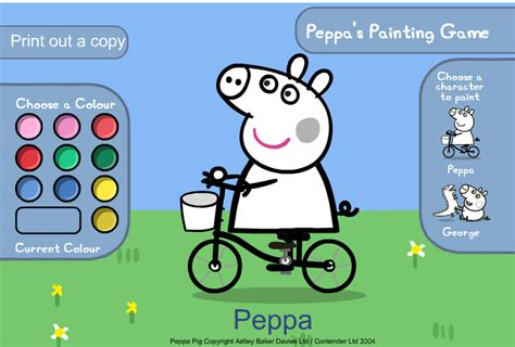 peppa pig coloring pages games peppa coloring book games muddy puddles colouring pages