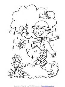 spring showers coloring page all kids network