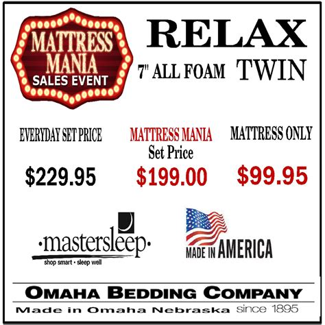 omaha bedding company omaha bedding relax twin mattress hope home furnishings