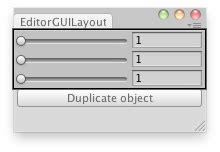 unity gui grid layout unity scripting api editorguilayout intslider