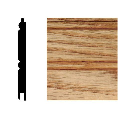 Wainscoting Menards by House Of Fara 174 96 Quot Solid Oak Tongue And Groove