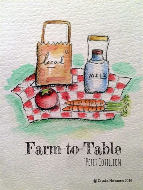 teach about farm to table le petit cotillion