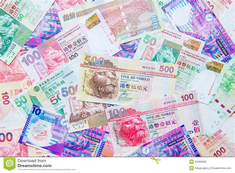 currency hkd hong kong dollar currency stock photo image 55368395