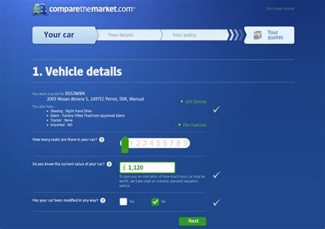Compare The Market Car Insurance Quotes by Comparethemarket Car Insurance Redesign Carwow