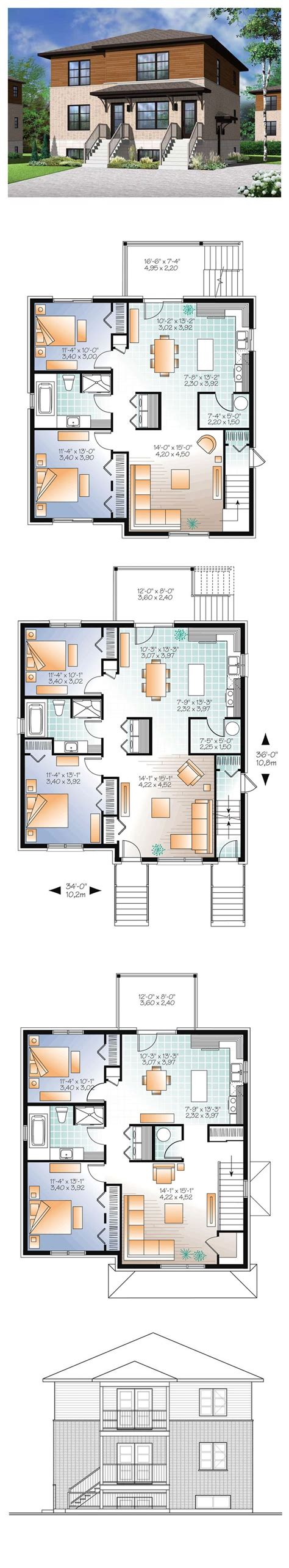 multi family apartment plans 125 best images about duplex apartment plans on