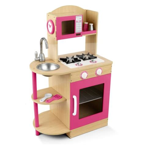 Toddler Wooden Kitchen Set by Kidkraft Modern Pink Wooden Kitchen Play Set