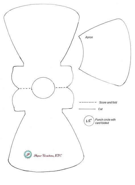dress template for card paper creations etc