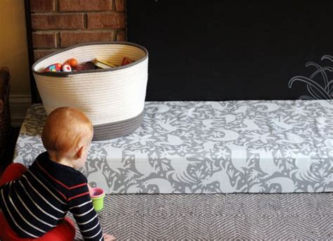 diy padded hearth cover for baby proofing diy