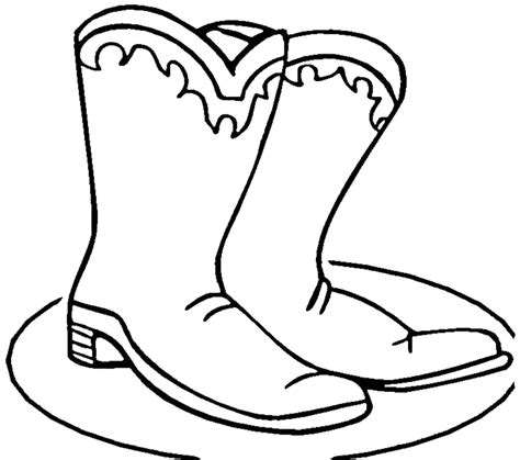 Cowboy Boots Coloring Pages Az Coloring Pages Drawing Of A Cowboy Boot Printable