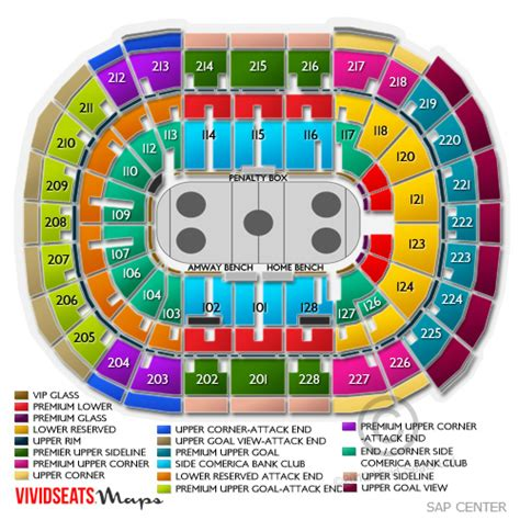 san jose sap map sap center seating map my