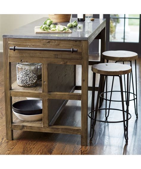 bar stool for kitchen island bluestone kitchen island crate and barrel living room