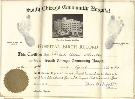 Ohio Birth Record Robert Allen Thornton