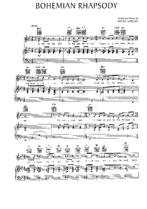 tutorial piano queen bohemian rhapsody queen bohemian rhapsody sheet music