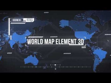 World Map Element 3d After Effects Ae Template Videohive 19202652 Youtube 3d Globe After Effects Template