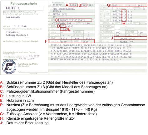 Motorrad Ersatzteile Nach Schl Sselnummer by Schl 252 Sselnummer Fahrzeugschein Fahrzeugsuche Nach Schl