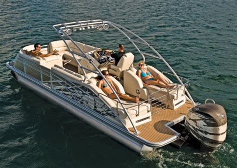 types of tritoon boats bennington 2575 qcw pontoon boat review top shelf fun