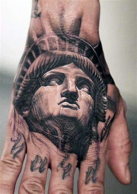 tattoo hand freedom 70 statue of liberty tattoo designs for men new york city