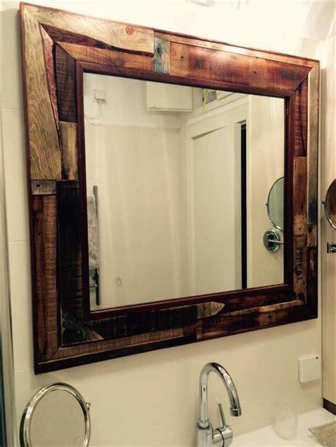diy rustic mirror diy rustic pallet mirror for wall