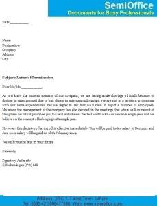 letter termination employer semiofficecom