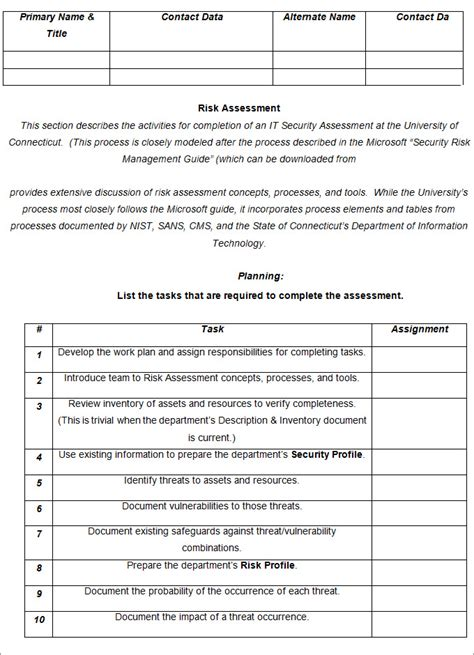 Risk Analysis Template 5 Word Pdf Documents Download Free Premium Templates Small Business Risk Assessment Template