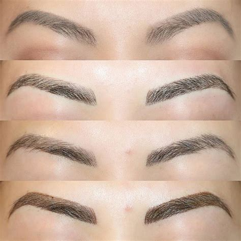 process of tattoo eyebrows before after 1st session healed touchup so here you can