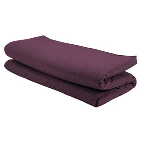 futon mattress replacement plum textured fabric double folding sleeping bed
