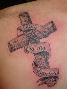 wooden cross tattoos tattoos of crosses