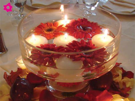 centros de mesa con velas para bodas centro de mesa para boda con agua con flores y velas