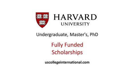 Scholarship Grants For Mba Programs In The Usa by Harvard Scholarships 2018 Fully Funded