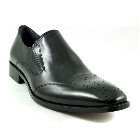 buy mens black formal slip on shoes gucinari design