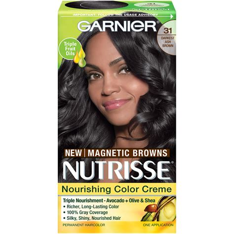 garnier hair colour models garnier 31 darkest ash brown nourishing color creme 1 kt