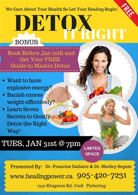 Detox Flyer by Chiropractic Centre For Optimum Health Events