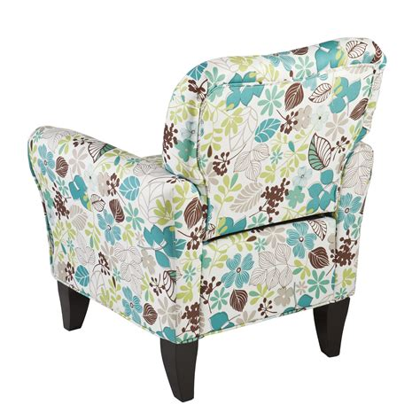 Floral Accent Chair Southern Enterprises Dahlia Upholstered Accent Arm Chair Floral