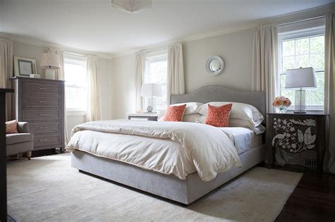 cream and orange bedroom gray curtains with orange trim design ideas