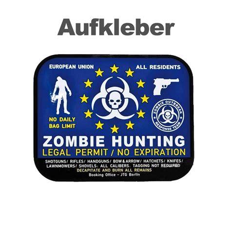 Aufkleber 60 X 60 by Aufkleber Zombie Hunting 75 X 60 Mm