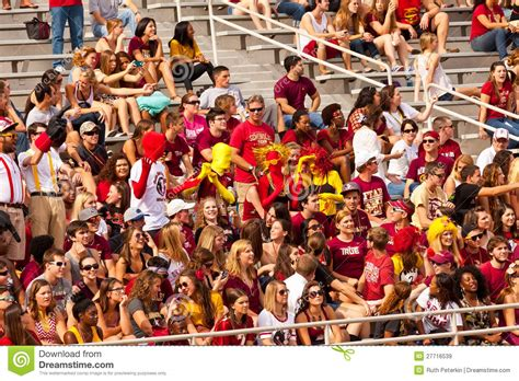 fsu student section student section at doak cbell stadium editorial stock