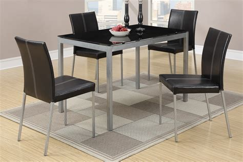 Silver Dining Table And Chairs Poundex F2363 Silver Metal Dining Table And Chair Set A Sofa Furniture Outlet Los Angeles Ca