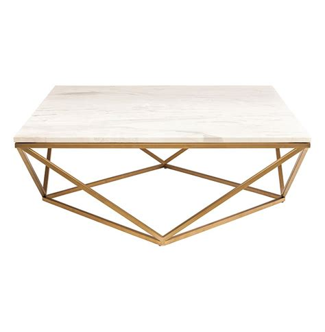 Marble Coffee Tables Rosalie Regency Gold Steel White Marble Coffee Table Kathy Kuo Home