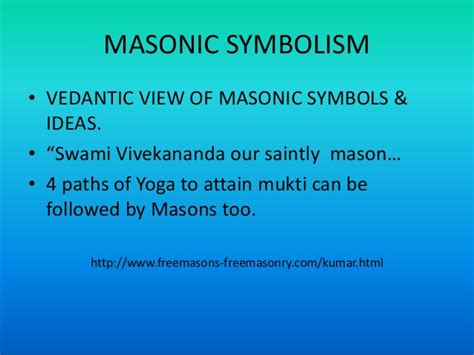 Freemasonry A Philosophical Essay by Influence Of Vivekananda Vedanta On Free Masonic Ideas