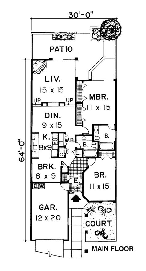 Narrow Ranch House Plans by 25 Best Ideas About Narrow House Plans On