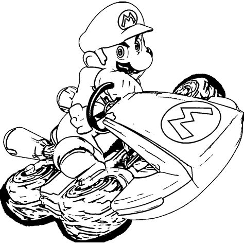 Mario Kart 7 Free Coloring Pages Mario Kart 7 Coloring Pages