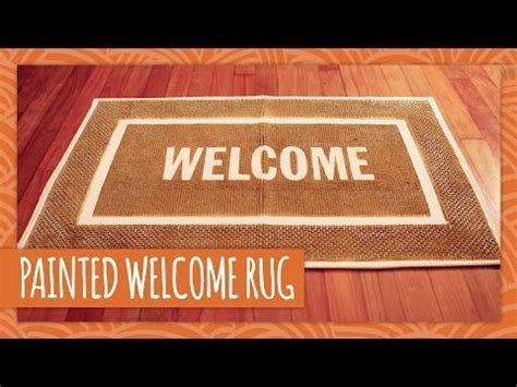 Hgtv Handmade - diy painted welcome rug hgtv handmade