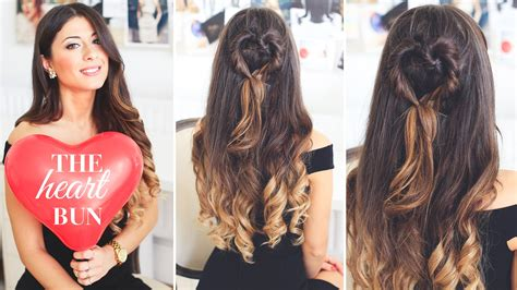 hairstyles for school luxy hair the heart bun valentine s day hairstyle youtube