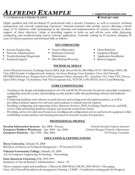 functional resume formats resume sles types of resume formats exles and