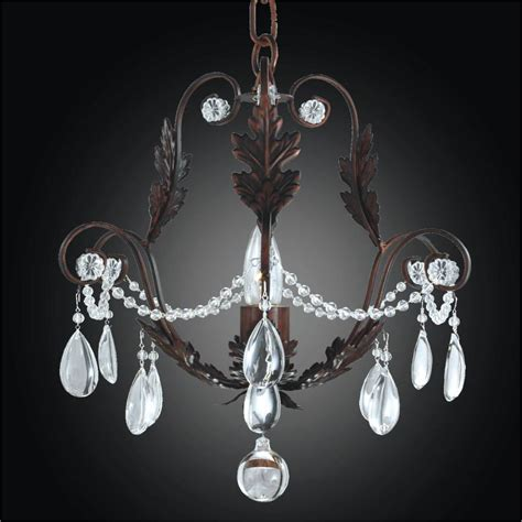 Iron Chandelier With Crystals Beaded Mini Chandelier Chateau 554 Glow 174 Lighting