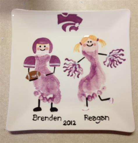 cheerleading crafts for footprint football player and cheer leader handprint